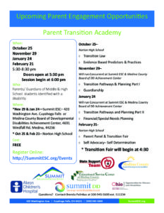 Parent Transition Academy 2018-19 - Summit County